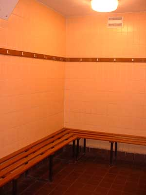 School gym interiors - the changing rooms